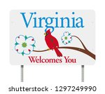 virginia welcomes you road sign | Shutterstock .eps vector #1297249990