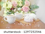 coffee for sweetheart. morning... | Shutterstock . vector #1297252546