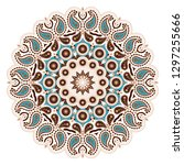 indian floral paisley medallion ... | Shutterstock .eps vector #1297255666