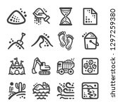 sand icon set vector and... | Shutterstock .eps vector #1297259380
