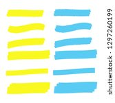 highlighter elements. yellow... | Shutterstock . vector #1297260199