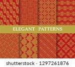 8 different elegant classic... | Shutterstock .eps vector #1297261876