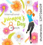 international women's day... | Shutterstock .eps vector #1297266439
