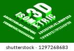 3d isometric alphabet font.... | Shutterstock .eps vector #1297268683