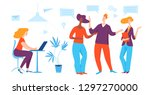vector illustration with... | Shutterstock .eps vector #1297270000