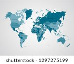 high detail world map. template ... | Shutterstock .eps vector #1297275199