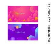 presentation background  cover  ...   Shutterstock .eps vector #1297281496
