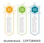 vertical steps  infographic... | Shutterstock . vector #1297284043