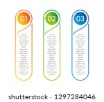 vertical steps  infographic... | Shutterstock . vector #1297284046