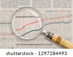 unemployment rate under the... | Shutterstock . vector #1297284493
