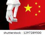 trade war tariffs. china... | Shutterstock . vector #1297289500