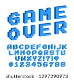 set of vector letters in retro... | Shutterstock .eps vector #1297290973