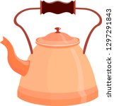 the kettle with the handle is... | Shutterstock .eps vector #1297291843