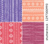 seamless knitting pattern.... | Shutterstock .eps vector #1297300993