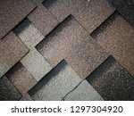 roof covered by soft shingles   ... | Shutterstock . vector #1297304920