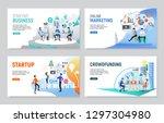 set of creative website... | Shutterstock .eps vector #1297304980