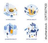 modern flat isometric designed... | Shutterstock .eps vector #1297307920