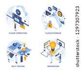 modern flat isometric designed... | Shutterstock .eps vector #1297307923