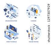 modern flat isometric designed... | Shutterstock .eps vector #1297307929