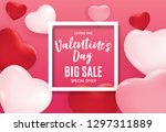 valentine's day love and... | Shutterstock . vector #1297311889