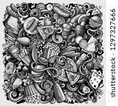 fastfood hand drawn vector...   Shutterstock .eps vector #1297327666