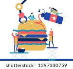 fast food   flat design style... | Shutterstock .eps vector #1297330759