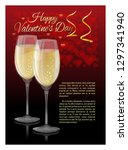 greeting card with stemware to... | Shutterstock .eps vector #1297341940