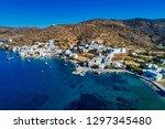 aerial view of katapola vilage  ...   Shutterstock . vector #1297345480