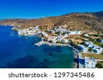 aerial view of katapola vilage  ...   Shutterstock . vector #1297345486