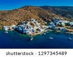 aerial view of katapola vilage  ...   Shutterstock . vector #1297345489
