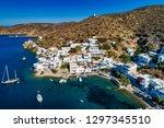 aerial view of katapola vilage  ...   Shutterstock . vector #1297345510