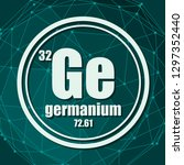 germanium chemical element.... | Shutterstock .eps vector #1297352440