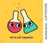 pun postcard. cute vector...   Shutterstock .eps vector #1297355230
