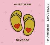 pun postcard. cute vector... | Shutterstock .eps vector #1297355233