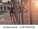 keep running. full length of... | Shutterstock . vector #1297361020