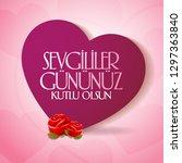 14 february valentine's day... | Shutterstock .eps vector #1297363840