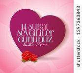 14 february valentine's day... | Shutterstock .eps vector #1297363843