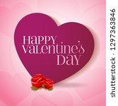 14 february valentine's day... | Shutterstock .eps vector #1297363846