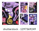 bundle of poster  invitation... | Shutterstock .eps vector #1297369249