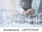 financial investment  business... | Shutterstock . vector #1297374229