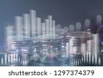 financial investment concept.... | Shutterstock . vector #1297374379
