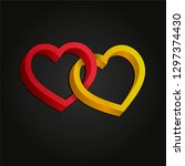 two hearts intertwined. optical ...   Shutterstock .eps vector #1297374430