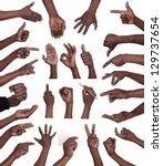 hand gestures collection ... | Shutterstock . vector #129737654