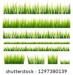 spring and summer green grass... | Shutterstock .eps vector #1297380139