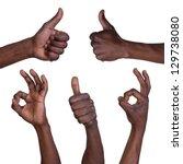 thumbs up and okay gestures... | Shutterstock . vector #129738080