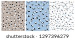 set of 3 cute abstract dots...   Shutterstock .eps vector #1297396279