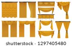 golden luxury curtains and... | Shutterstock .eps vector #1297405480