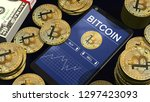 smartphone with bitcoin chart... | Shutterstock . vector #1297423093