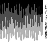 drip paint grey seamless... | Shutterstock .eps vector #129743594