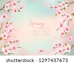 spring nature background with a ... | Shutterstock .eps vector #1297437673